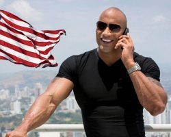 The-Rock-US-Flag