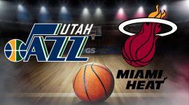 Utah Jazz Logo and Miami Heat Logo