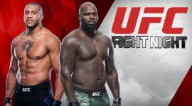 Jairzinho Rozenstruik vs Ciryl Gane and UFC Logo