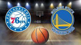 Philadelphia 76ers Logo and Golden State Warriors Logo
