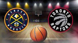 Nuggets Logo and Raptors Logo