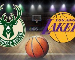 Bucks Logo and Lakers Logo