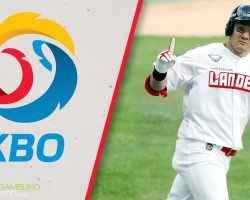 KBO Logo and SSG Landers Player