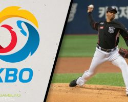KBO Logo and KT Wiz William Cuevas