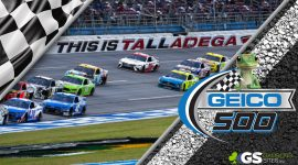 Geico 500 Logo and Talladega Super Speedway Race