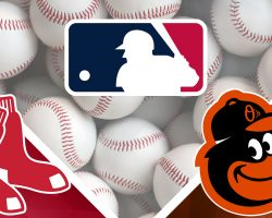 REd Sox Logo and Orioles Logo