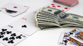 poker cards and money on the table