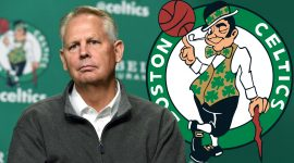 Celtics Logo and Danny Ainge