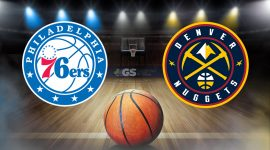 76ers Logo and Nuggets Logo