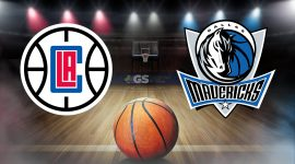 Clippers Logo and Mavericks Logo