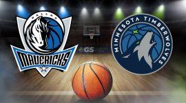 Minnesota Timberwolves Logo and Dallas Mavericks Logo