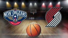 New Orleans Pelicans Logo and Portland Trail Blazers Logo