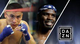 Vergil Ortiz Jr. vs Maurice Hooker and DAZN Logo