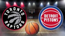 Toronto Raptors Logo and Detroit Pistons Logo