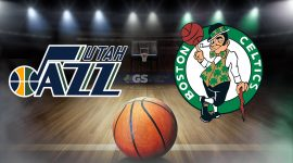 Utah Jazz Logo and Boston Celtics Logo