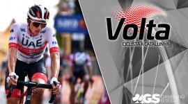 Volta a Catalunya 2021 Logo and Brandon McNulty