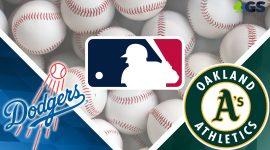 Dodgers Logo and Athletics Logo