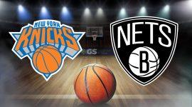 Knicks Logo and Nets Logo