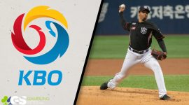 KBO Logo and KT Wiz William Cuevas