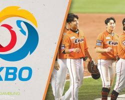 KBO Logo and Eagles Players