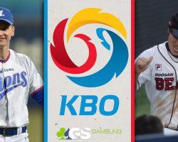 KBO Logo, Samsung Lions Player, and Doosan Bears Player