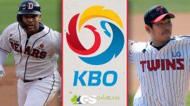 KBO Logo and Doosan Bears Player and LG Twins Player