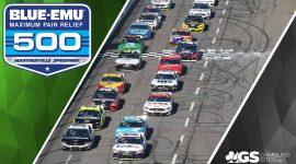 Martinsville Speedway and Blue-Emu Maximum Pain Relief 500 Logo