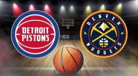 Pistons Logo and Nuggets Logo