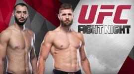 Dominick Reyes and Jiri Prochazka With UFC Fight Night Logo
