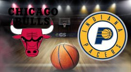Bulls Logo and Pacers Logo