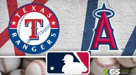 Rangers Logo and LA Angels Logo