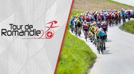 Tour de Romandie Logo and Cyclists