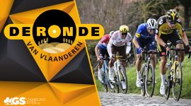 Tour of Flanders Logo and Racers