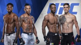 UFC Logo and UFC 261 Prelim Fighters