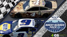 Buschy McBusch Race 400 Logo, #4 and #9 Cars