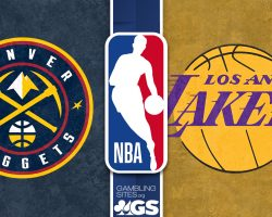 Nuggets Logo and Lakers Logo