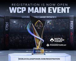 Pendaftaran Acara Utama Kejuaraan Poker Perguruan Tinggi Dunia 2021 sekarang dibuka